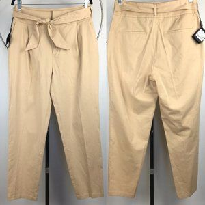 NWT Massimo Dutti High Tie Waist Pleated Trousers